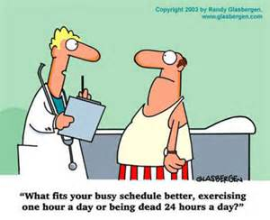 Exercise Cartoon What fits your schedule better